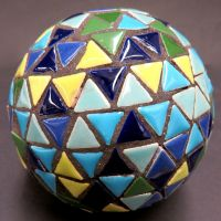 Triangle Gazing Ball: 10cm