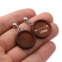 Wooden 16mm Earring