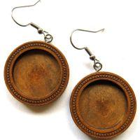 32mm Hanging Wooden Earrings