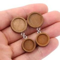Stained Wood Double Earring