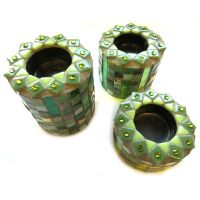 Cozy Candleholder (set of 3): Green