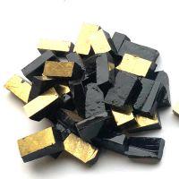 Gold Smalti on Black Glass