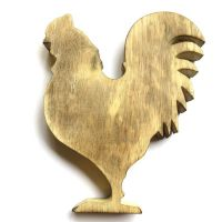 Wooden Rooster: 22cm