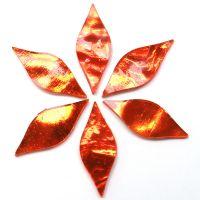 Small Petals: AR23 Orange Wavy: 6 tiles