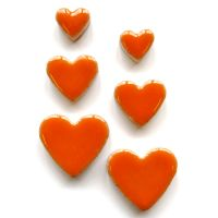 Popsicle Orange Hearts H401
