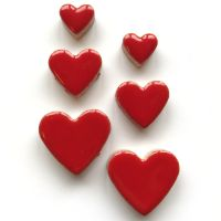 Poppy Red Hearts H401