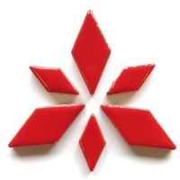 Diamond Charm: Poppy Red H401