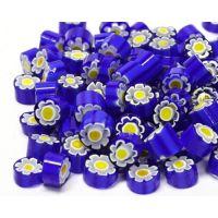 7/8 Blue/Aqua Flowers T62