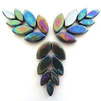049p Iridised Black Petals