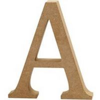 Capital MDF Letter A: 30cm