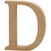 Capital MDF Letter D: 30cm