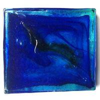 10cm Block: Streaky Blue