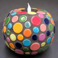 15cm Polka Dot Candleholder