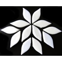 Small Petals: MG01 Pure White: 12 pieces