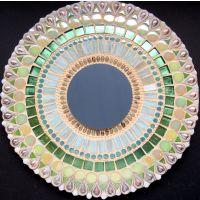30cm Round Mirror: Green**