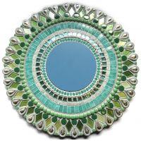 40cm Round Mirror: Seafoam***