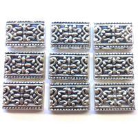 Silver Tibetan Link: Set of 9
