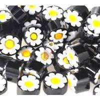 10/11 Black/White/Yellow Flower U56