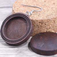 20mm Dangle Wooden Earrings
