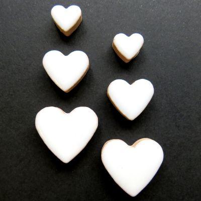 Heart Charm: White H3